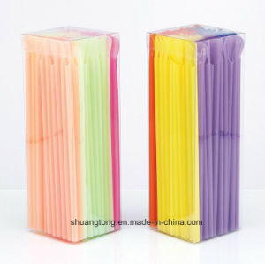 PVC Box 100PCS Spoon Straw (70415) pictures & photos