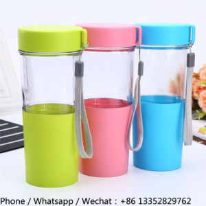 400ml Clear Plastic Water Bottle with Lid pictures & photos