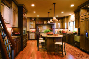 Kitchen Furniture American Solid Wood Maple Kitchen Cabinet (Hy) pictures & photos