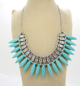 Imitation Rhinestone Costume Necklace, Fashion Jewelry (NEC-18)