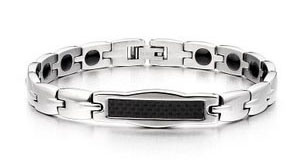 Stainless Steel Magnetic Germanium Energy Bracelet for Couple pictures & photos