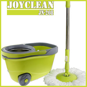 New Arrival Big Wheel Walkable Joyclean 360 Spin Magic Easy Happy Mop with Wheel pictures & photos