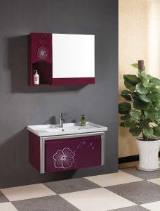 PVC Bathroom Cabinet/Vanity, Bathroom Furniture (YL-P9738)