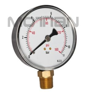 3.5 Inch Standard Stainless Steel Case Bourdon Tube Pressure Gauge pictures & photos