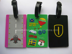 Fashion Gift Cheap Personalized 3D Embossed Soft PVC Luggage Tag pictures & photos