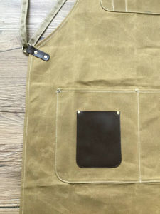 Heavy Duty Custom Waxed Canvas Work Apron with Criss-Back Straps pictures & photos