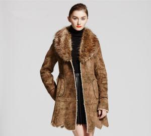 Popular Faux Chamois Leather Fur Coat for Women Qx-C02 pictures & photos