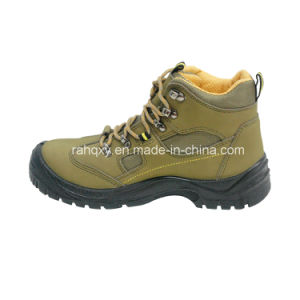 Light Green Nubuck MID-Cut Safety Shoes (HQ03052) pictures & photos