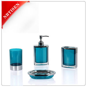 china acrylic plastic crystal bathroom accessories set ts8012 4