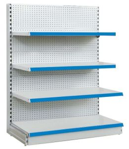 Single-Side Pegboard Supermarket Shelf pictures & photos