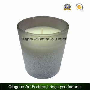 Gradient Colored Glass Candle with Frosted Finish for Home Decoration pictures & photos