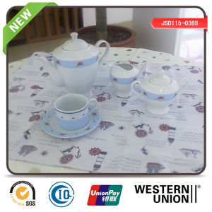 Tea Set of 15PCS in Porcelain