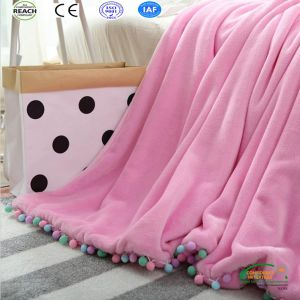 Pink Color Girl Style Fashion Sofa Blanket pictures & photos