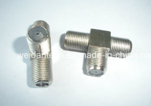 Zinc Shell Triple Channel F Connector pictures & photos