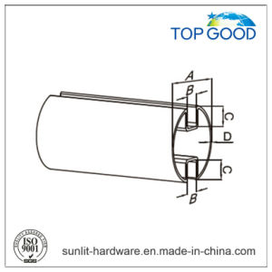 Topgood Stainless Steel Round Double Channel Tube (51010) pictures & photos