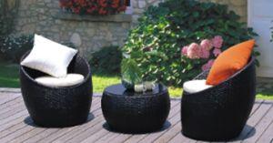 Rattan Patio Furnitur Wicker Garden Sofa Set (BZ-SF053)