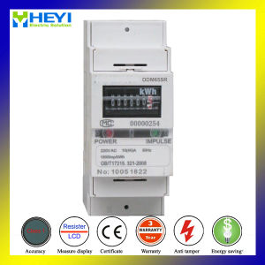 2 Pole IEC DIN Rail Analog Energy Meter pictures & photos