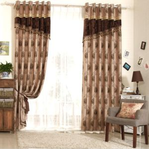 Simple Style Yarn Dyed Jacquard Fabric Curtain (MX-167) pictures & photos