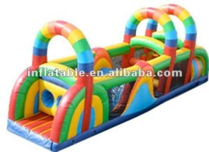 Inflatable Rainbow Obstacle for Adult Games and Kids Playground Js813 pictures & photos