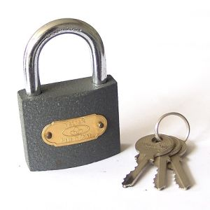 Short Shackle Gery Iron Padlock with Good Price