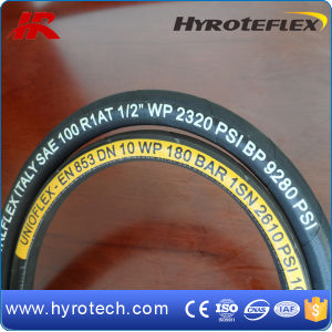 Wire Spiral High Pressure Hydraulic Rubber Hose Smooth Surface DIN En 856 4sh/4sp Assembly pictures & photos