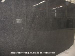 Polished Absolute Black Granite Slabs for Countertop and Vanity Top pictures & photos