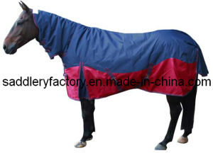Navy Red Turnout Ripstop Winter Rug (SMR1130) pictures & photos