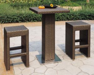 Outdoor Rattan Bar Furniture Stool Set pictures & photos