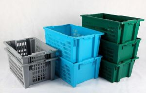 Transport Plastic Turnover Basket for Fruits and Vegetables Products