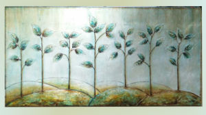Modern Decoration Oil Painting Trees Beautiful Design (LH-085000) pictures & photos