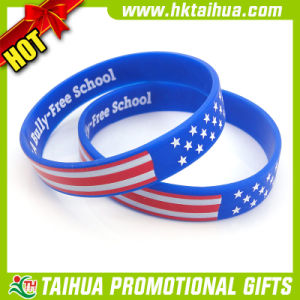 Custom National Flag Silicone Bracelet Printed (DSC05199) pictures & photos