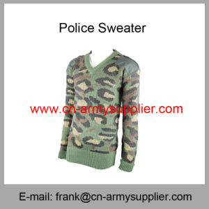 Police Cardigan-Police Jumper-Police Jersey-Police Pullover-Camouflage Police Sweater pictures & photos