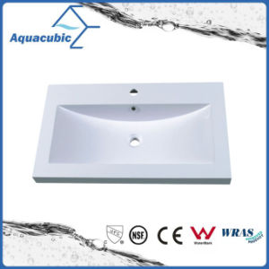 Artificial Marble Square Bathroom Vanity Sink Acb0803 pictures & photos
