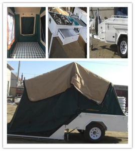 2015 Hot Sale Camper Trailer with Water Proof Canvas Tent pictures & photos