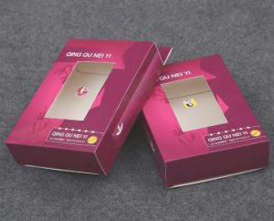 Printed Bra Packaging Box with PVC Window pictures & photos