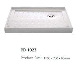 Right Corner Three Flanges Shower Tray (BD-1023) pictures & photos