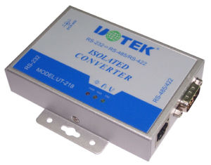 Industrial External-Mounted Photoelectric Isolation Converter From RS-232 to RS-485/422 (UT-218)