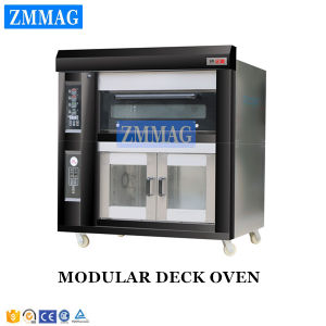 2 Doors Electric Deck Oven with 8 Trays Proofer (ZMC-128FD) pictures & photos