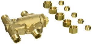 Under Sink Guardian Thermostatic Mixing Valve, 3/8 Inches, Brass