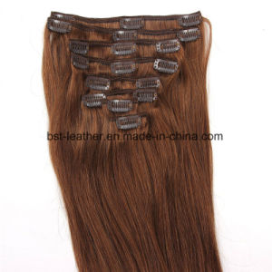 7A Grade Clip in Hair Extensions Virgin Brazilian Human Hair 7PCS/Set 16inch to 22inch in Stock Color pictures & photos