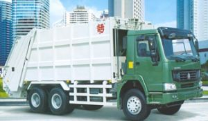 10m3 HOWO Rear-Loading Compressed Garbage Truck (QDZ5120ZYSZH) pictures & photos
