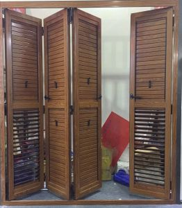 High Rise Aluminum Folding Shutter Door