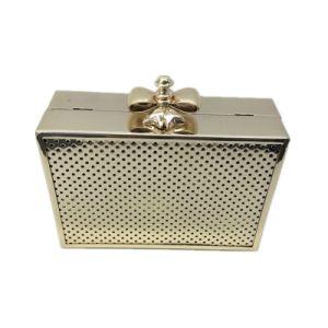 Gold Hard Case Handbag Fashion Design Eveningbag pictures & photos