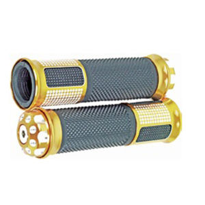 Motorcycle Parts Golden Color Handle Grip Motorcycle Grips pictures & photos