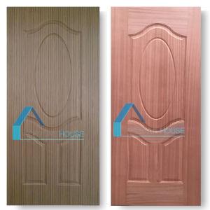 Hot Selling EV Sapeli Veneer 5 Panel Moulded Plywood Door Skin pictures & photos