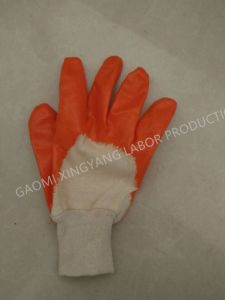 Cotton Interlock Shell Nitrile 3/4 Coated Safety Work Gloves (N6015) pictures & photos