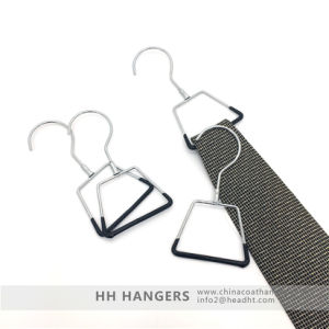 Metal Swivel Hook Plastic Covered Display Tie Scarf Hangers Chrome Suit Hanger pictures & photos
