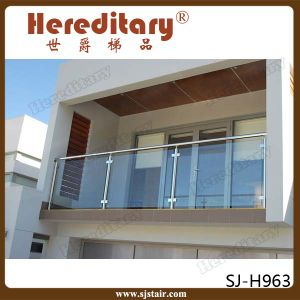 Glass Baluster for Hotel Stair Railing Stainless Steel (SJ-S083) pictures & photos