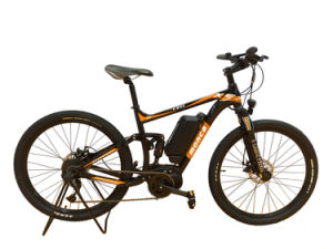 New Middle Motor E-Bike Electric Bicycle Mountain E Bike Suspension Alloy Frame Shimano Gear pictures & photos