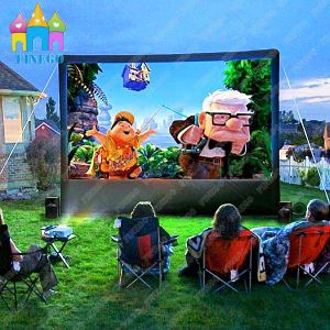 Finego Giant Widescreen Outdoor Inflatable Sky Air Rear Deluxe Movie Frame pictures & photos